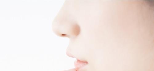 横顔女性の鼻画像